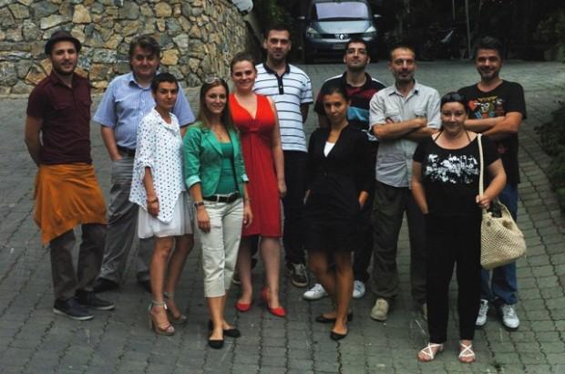 Учесниците на тренингот за статистичко новинарство