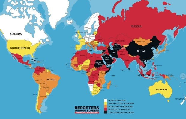 RSF: Freedom of Information Declines Accross the Globe