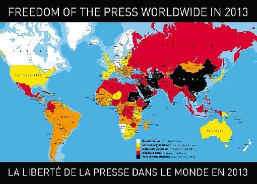 (Македонски) Репортери без граници: Слободата на медиумите во светот во 2013